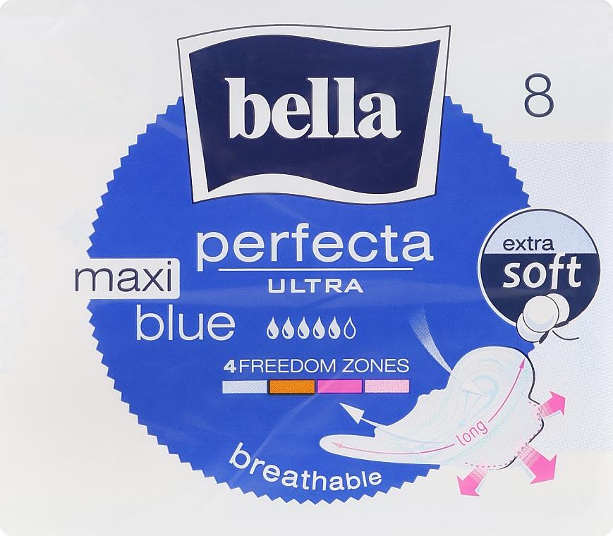 Damenbinden Perfecta Blue Maxi Soft Ultra 8 St. - Bella