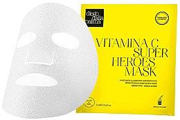 Düfte, Parfümerie und Kosmetik Aufhellende und energiespendende Tuchmaske für das Gesicht mit Vitamin C - Diego Dalla Palma Vitamina C Super Heroes Mask