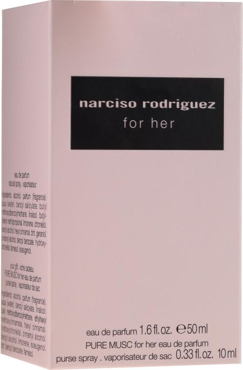Narciso Rodriguez for Her - Duftset (Eau de Parfum 50ml + Eau de Parfum 10ml) — Bild N4