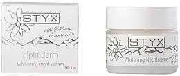 Düfte, Parfümerie und Kosmetik Aufhellende Nachtcreme für das Gesicht mit Edelweiß und Stutenmilch - Styx Naturcosmetic Alpin Derm Whitening Night Cream
