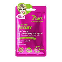 Düfte, Parfümerie und Kosmetik Feuchigkeitsspendende Gesichtsmaske mit Kokosnuss- und Litschi-Extrakt - 7 Days Blazing Friday