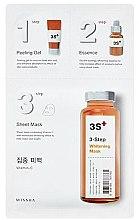 Düfte, Parfümerie und Kosmetik 3-stufige Aufhellungsmaske - Missha 3-Step Whitening Mask