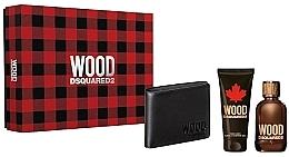 Düfte, Parfümerie und Kosmetik Dsquared2 Wood Pour Homme - Duftset (Eau de Toilette 100ml + Duschgel 100ml + Geldbörse)
