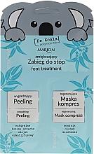Düfte, Parfümerie und Kosmetik Aufweichendes Fußpflegeset - Marion Dr Koala (Fußpeeling 6.5ml + Fußmaske 6ml)