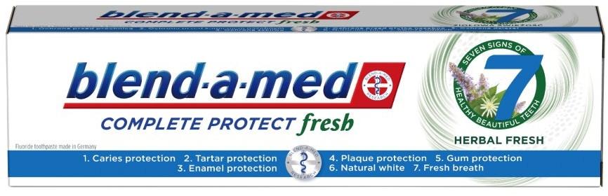 Zahnpasta Complete Protect Fresh 7 Herbal Fresh - Blend-a-Med Complete Protect Fresh 7 Herbal Fresh Toothpaste
