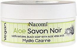 Düfte, Parfümerie und Kosmetik Natürliche schwarze Seife mit Aloe Vera - Nacomi Savon Noir Natural Black Soap with Aloe Vera Juice