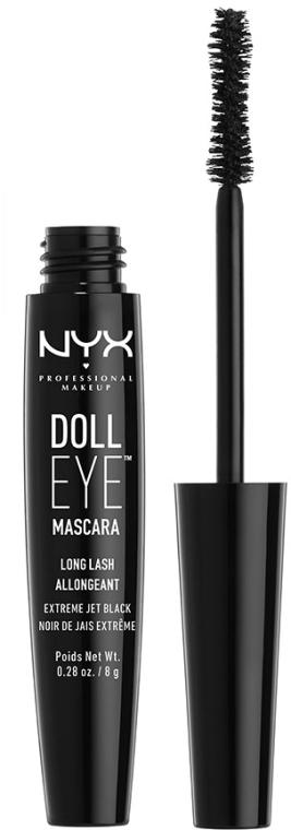 Verlängernde Wimperntusche - NYX Professional Makeup Doll Eye Mascara Long Lash — Bild N2