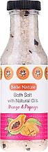Düfte, Parfümerie und Kosmetik Badesalz mit Mango und Papaya - Belle Nature Bath Salt