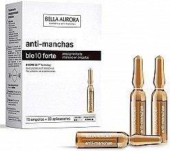 Düfte, Parfümerie und Kosmetik Gesichtsampullen gegen Pigmentflecken - Bella Aurora Bio10 Forte Intensive Depigmenting Ampoules