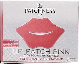 Düfte, Parfümerie und Kosmetik Feuchtigkeitsspendende Lippenpatches mit Kollagen, Rotweinextrakt und Hyaluronsäure - Patchness Lip Patch Pink