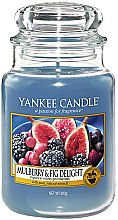Düfte, Parfümerie und Kosmetik Duftkerze im Glas Mulberry & Fig Delight - Yankee Candle Mulberry & Fig Delight Jar