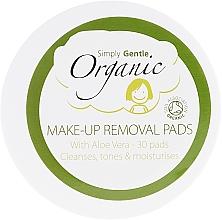 Düfte, Parfümerie und Kosmetik Reinigende feuchtigkeitsspendende Gesichtspads mit Aloe-Vera - Simply Gentle Organic Fairtrade Cotton Facial Cleansing Pads