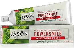 Düfte, Parfümerie und Kosmetik Aufhellende Zahnpasta mit Pfefferminzöl Power Smile - Jason Natural Cosmetics PowerSmile All Natural Whitening Toothpaste