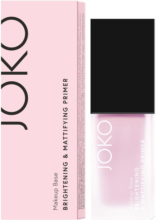 Aufhellender und mattierender Gesichtsprimer - Joko Brightening & Mattifying Primer