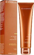 Düfte, Parfümerie und Kosmetik Sonnenschutzmilch für den Körper SPF 15 - Academie Bronzecran Body Sunscreen Milk