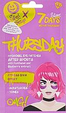 Düfte, Parfümerie und Kosmetik Hydrogel-Augenpatches mit Panthenol und Blaubeerextrakt - 7 Days Hydrogel Eye Patches