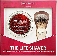 Düfte, Parfümerie und Kosmetik Rasierset - Men Rock The Life Shaver Black Pomegranate Kit (Rasierbürste + Rasiercreme 100ml)