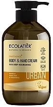 Düfte, Parfümerie und Kosmetik Pflegende Körper- und Handcreme mit Salat, Kukui-Nuss und Panthenol - Ecolatier Urban Nourishing Body & Hand Cream