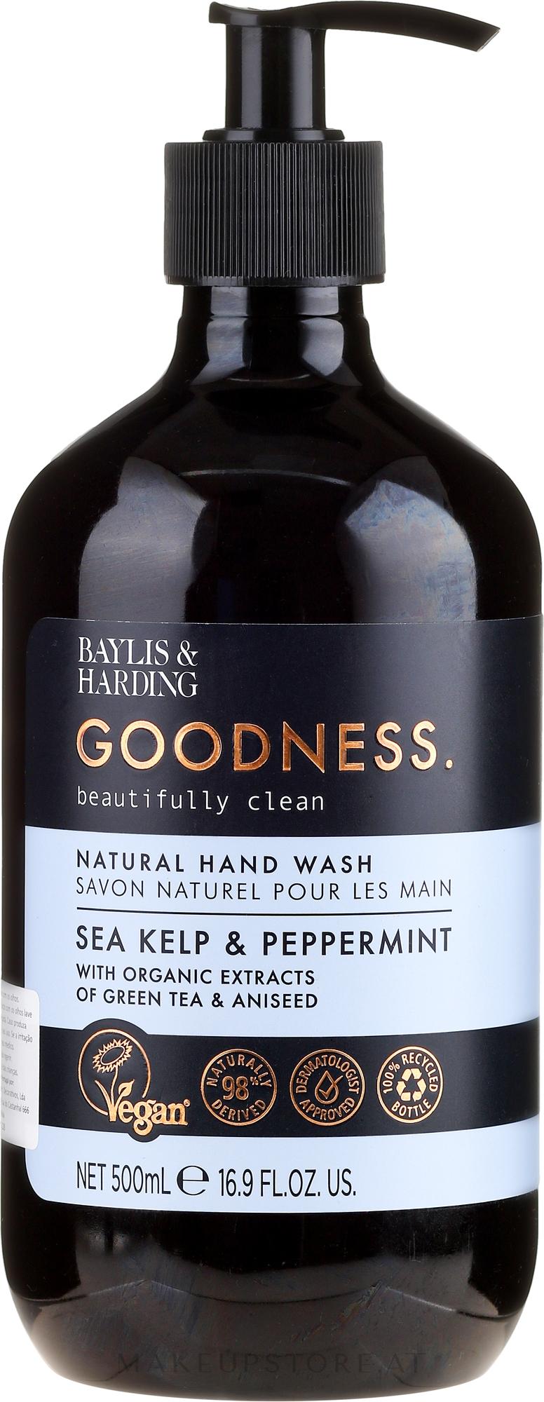Natürliche Handseife Sea Kelp & Peppermint - Baylis & Harding Goodness Sea Kelp & Peppermint Natutal Hand Wash — Bild 500 ml