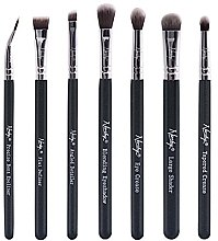 Düfte, Parfümerie und Kosmetik Make-up Pinselset 7-tlg. - Nanshy Eye Brush Set Onyx Black