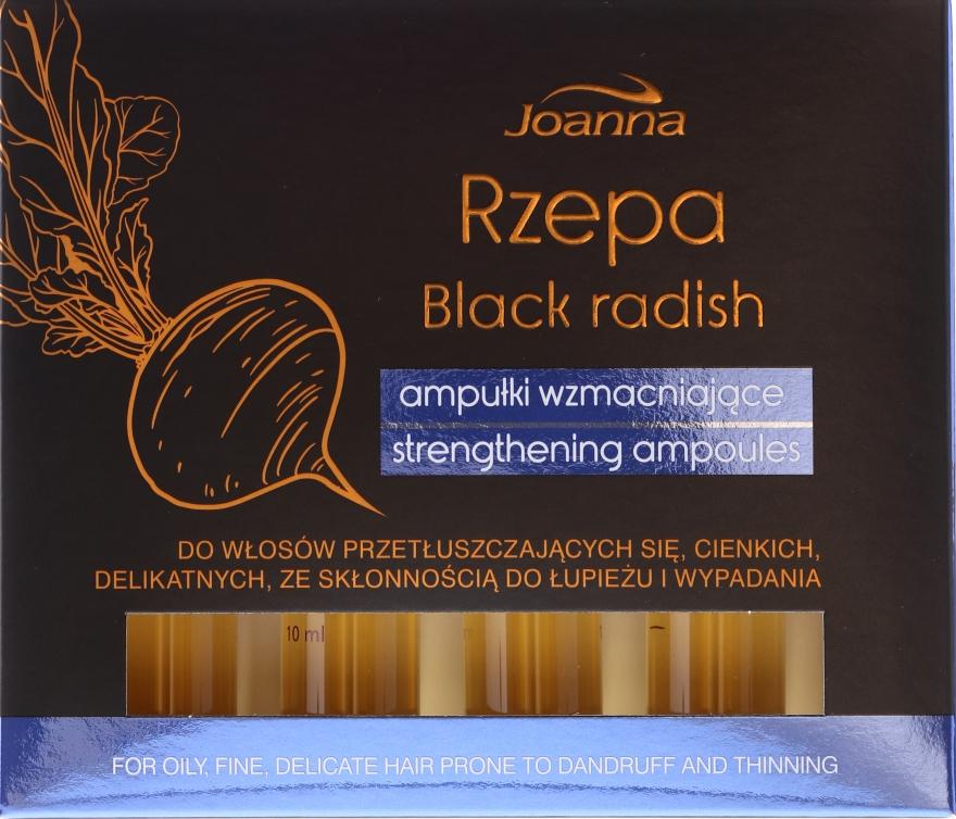 Kräftigende Ampullen für fettiges Haar mit schwarzem Rettich - Joanna Turnip Description Strengthening Ampoules