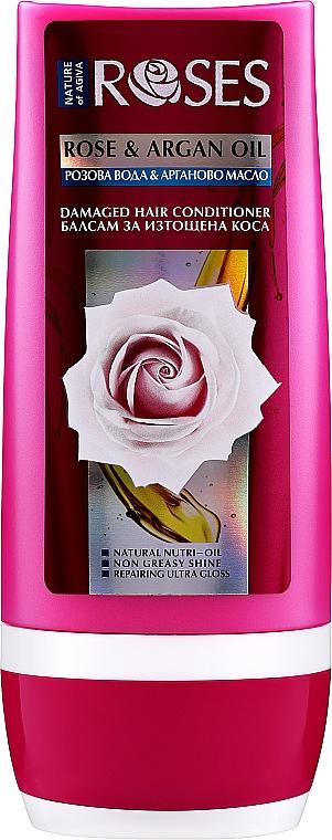 Regenerierende Haarspülung mit Rosenwasser und Arganöl für strapaziertes Haar - Nature of Agiva Roses Rose & Argan Oil Damaged Hair Conditioner