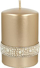 Düfte, Parfümerie und Kosmetik Dekorative Kerze Crystal Opal Gold 7x10 cm - Artman Crystal Opal Pearl