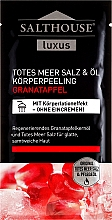 Düfte, Parfümerie und Kosmetik Körperpeeling Granatapfelkernöl und Salz aus dem Toten Meer - Salthouse Oil Body Scrub Pomegranate