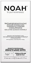 Düfte, Parfümerie und Kosmetik Zweiphasiges Haasserum für empfindliche und schuppige Kopfhaut mit Isländischem Moos und Hamamelis - Noah Bifasic Hair Treatment Vials for Sensitive Scalp