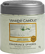 Düfte, Parfümerie und Kosmetik Duftsphäre mit Perlen und Sauberkeit-Duft - Yankee Candle Fluffy Towels Fragrance Spheres