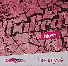 Düfte, Parfümerie und Kosmetik Kompaktes Rouge - Beauty UK Cosmetics Baked Blusher (1 -Popsicle Pink)