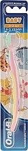 Düfte, Parfümerie und Kosmetik Kinderzahnbürste extra weich I-Aah 0-2 Jahre rosa-gelb - Oral-B Baby