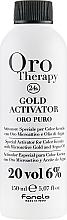 Düfte, Parfümerie und Kosmetik Entwicklerlotion mit goldenen Mikropartikeln und Arganöl 6% - Fanola Oro Gold