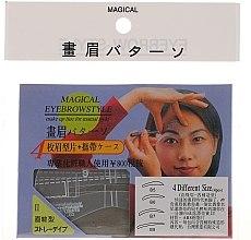 Düfte, Parfümerie und Kosmetik Augenbrauenschablonen Größe B5, B6, B7, B8 - Magical Eyebrow Style