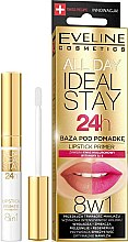 Düfte, Parfümerie und Kosmetik 8in1 Lippenbase - Eveline Cosmetics All Day Ideal Stay Lipstick Primer
