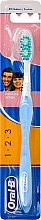 Düfte, Parfümerie und Kosmetik Zahnbürste mittel 1 2 3 Delicate White hellblau-weiß - Oral-B 1 2 3 Delicat White 40 Medium