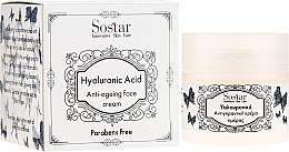 Düfte, Parfümerie und Kosmetik Anti-Aging Gesichtscreme mit Hyaluronsäure - Sostar Hyaluronic Acid Anti-Aging Face Cream