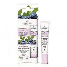 Düfte, Parfümerie und Kosmetik Pflegegel für Augenlider und Augenpartie mit Augentrost und Heidelbeere - Floslek Lid And Under Eye Gel With Eyebright & Bilberry
