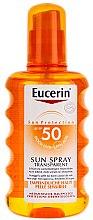 Düfte, Parfümerie und Kosmetik Sonnenschutz Körperspray - Eucerin Sun Spray Transparent SPF 50