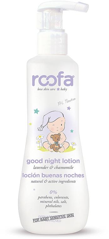 Körperlotion für Babys mit Kamille und Lavendel - Roofa Good Night Lotion