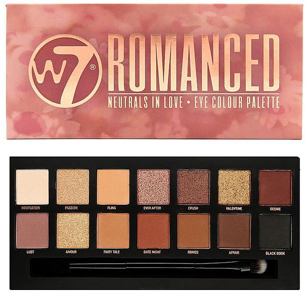 Lidschattenpalette - W7 Romanced Eyeshadow Palette
