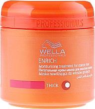 Pflegende und feuchtigkeitsspendende Maske für widerspenstiges Haar - Wella Professionals Enrich Moisturizing Treatment — Bild N1