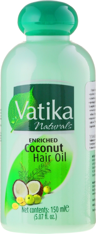 Kokosnuss-Haaröl mit Zitrone, Henna und Amla - Dabur Vatika Enriched Coconut Hair Oil