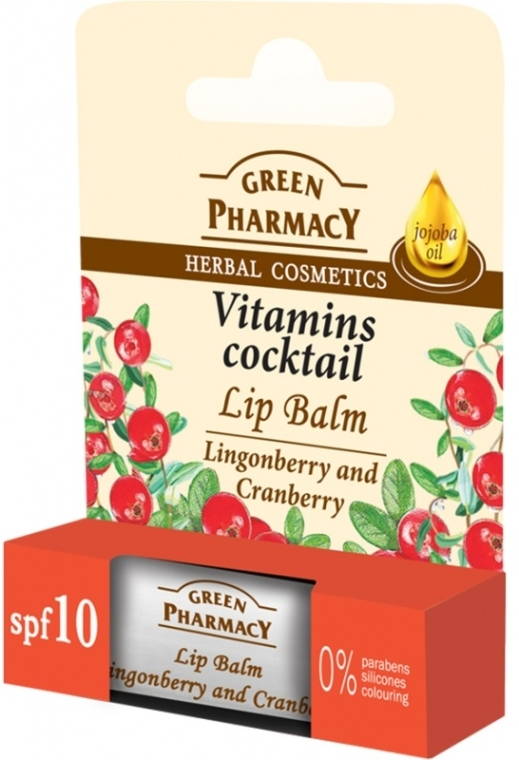 """Lippenbalsam """"Preiselbeere und Moosbeere"""" - Green Pharmacy Lip Balm With Lingonberry And Cranberry"""