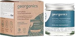 Düfte, Parfümerie und Kosmetik Natürliches Zahnüpulver mit englischer Pfefferminze - Georganics English Peppermint Natural Toothpowder