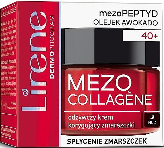 Pflegende und korrigierende Anti-Falten Nachtcreme mit Avocadoöl - Lirene Mezo Collagene
