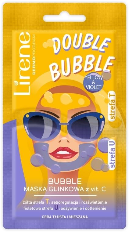 Schaummaske für das Gesicht mit Ton und Vitamin C - Lirene Double Bubble Mask