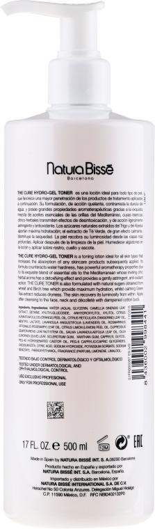 Erfrischendes Hydrogel-Tonikum für das Gesicht mit Lavendel- und Rosmarinöl - Natura Bisse The Cure Hydro-Gel Toner — Bild N3