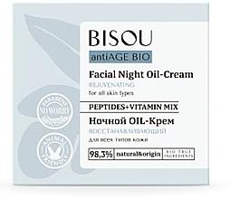 Düfte, Parfümerie und Kosmetik Reparierende Nachtcreme-Öl für alle Hauttypen - Bisou AntiAge Bio Facial Night Oil-Cream