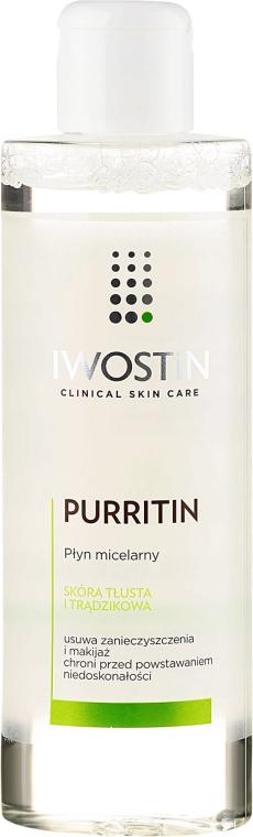 Mizellenwasser für fettige und zu Akne neigende Haut - Iwostin Purritin Face Cleansing Micellar Water — Bild N1